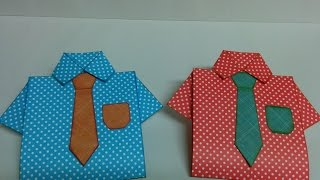 Art and Craft: How to make Shirt Card / Father's day card/ Teacher's day card