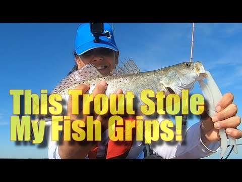 This Trout Stole My Fish Grips!!
