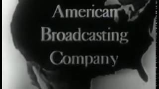American Broadcasting Company [ABC] logo (1953) [Very rare animated globe/map variant]