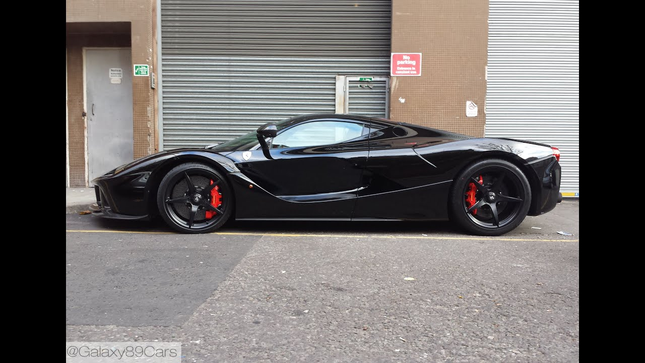 Black Ferrari Laferrari In London Part 2 Youtube