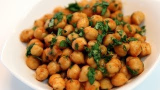 Chickpea Salad Moroccan Style Recipe - Cookingwithalia - Episode 316