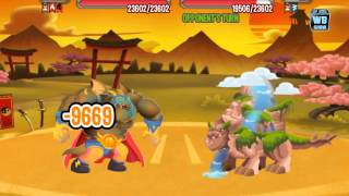 Dragon City: Japanese Island Dojo Battle 5 [Waterfall Dragon] [The Shogun]