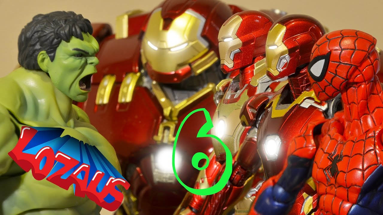Ironman stop motion part 6 with super heroes spiderman - Spiderman ironman and hulk ...