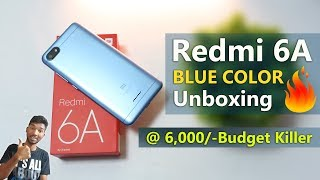 Redmi 6A Blue Color Unboxing & First look || in Telugu
