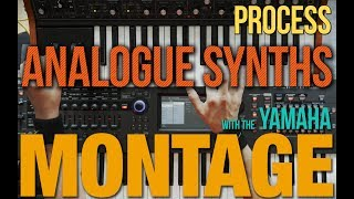 Using Yamaha Montage for processing Analogue Synths (Moog Sub37)-There's a pedalboard in my synth!