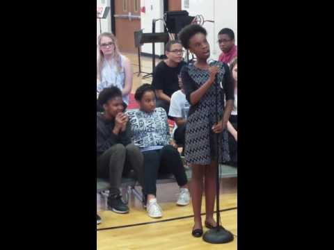 This little girl is AMAZING! JUST getting over strep throat @ that!! Tutt Middle School Augusta, Ga