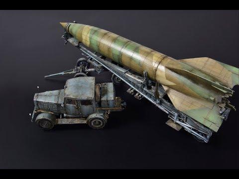 V-2 Rocket, Hanomag SS100, Meillerwagen - 1/72 Takom