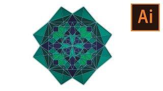 Adobe Illustrator Make Mandala With MirrorMe  Illustrator MANDALA ILLUSTRATOR