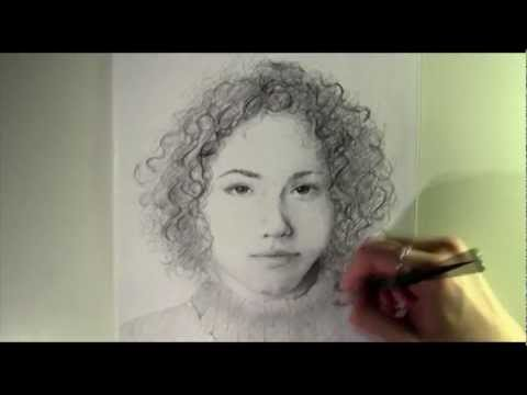 Drawing people who don't exist - cute curly brunette