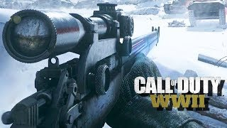 Call of Duty: WWII Gameplay PC - Sniper Stealth Mission
