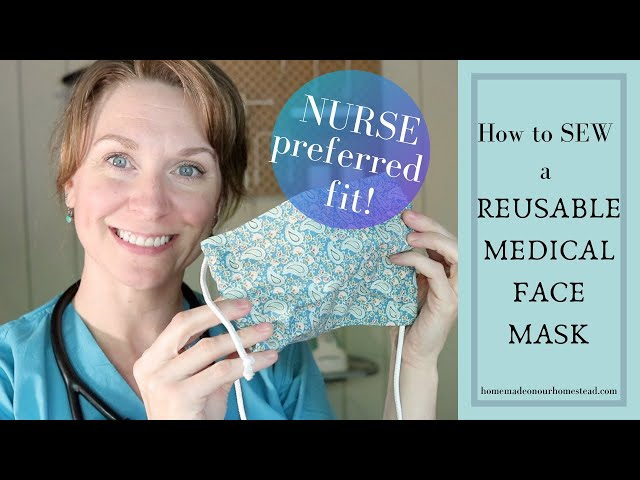 How to SEW a REUSABLE FACE MASK  with FILTER POCKET// DIY Fabric Face mask // BATCH sew Medical mask