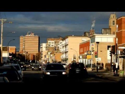 WALKING SOMERLED STREET IN N.D.G. MONTREAL