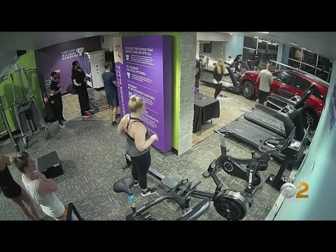 Qui West - Car Crashes Into California Gym Hitting Man On Treadmill!