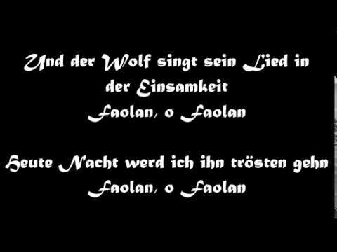 Oonagh: Faolan (mit lyrics) - YouTube