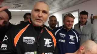 BRILLIANT! - PETER FURY IS GIVEN STANDING OVATION IN DRESSING ROOM THEN RIPS IN DOUBTERS HARD!!!!