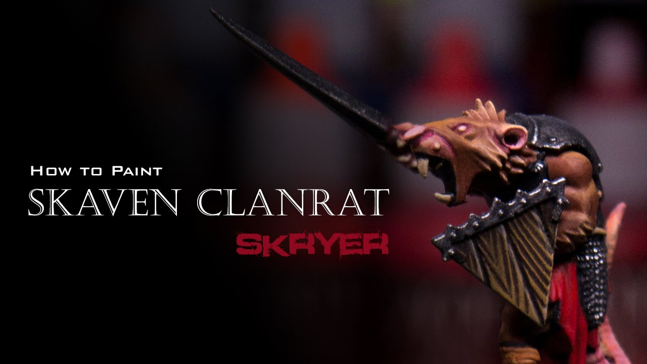 How to paint Skaven Clanrat Skryer by Lester Bursley