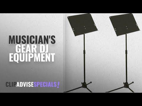Musician's Gear Dj Equipment [2018]: Musician's Gear Folding Music Stand 2-Pack Black