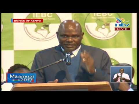 Wafula Chebukati on IEBC hacking claims and delays in submission of forms 34A