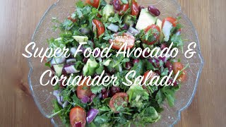 Superfoods Summer Salad Recipe With Avocado & Coriander | Uk Dietitian Nichola Whitehead