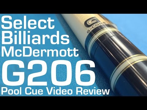 McDermott G206 Pool Cue - Select Billiards Video Review