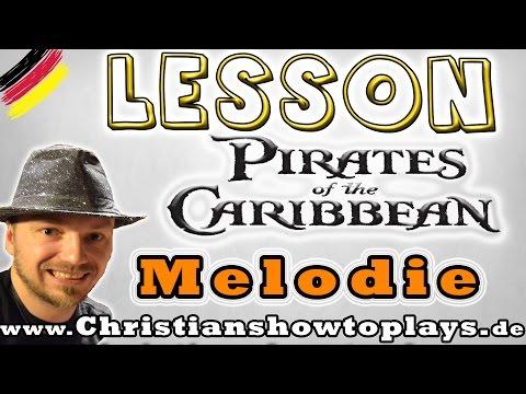 ★Pirates of the Caribbean/He is a Pirate | E Gitarren Tutorial [Deutsch] Tabs+Overhead Cam★