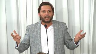 Shahid Afridi Talk @ REVIVING KARACHI DINNER