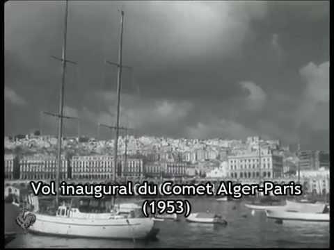 vol inaugural du premier avion commercial r action sur la ligne paris alger 1953 youtube. Black Bedroom Furniture Sets. Home Design Ideas