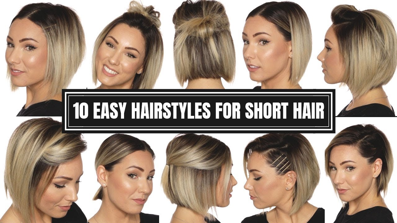 10 Easy Hairstyles For Short Hair Chloe Brown Youtube