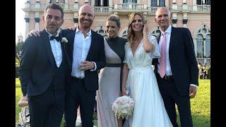 Matrimonio Filippa Lagerback e Daniele Bossari: il sì social e l'abito della sposa