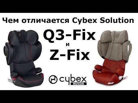 Чем Cybex Solution Z-Fix отличается от Cybex Solution Q3-Fix?