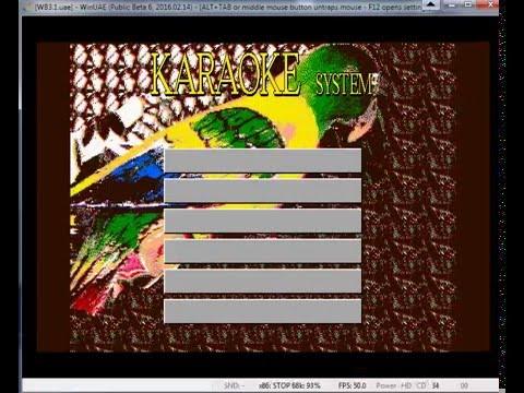 WinUAE AMiGA 1990 Karaoke Italia:  Requisiti CPU 7,16 MHz  1MB RAM