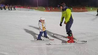 네살아기 첫 스키강습 받다!! kid to ski