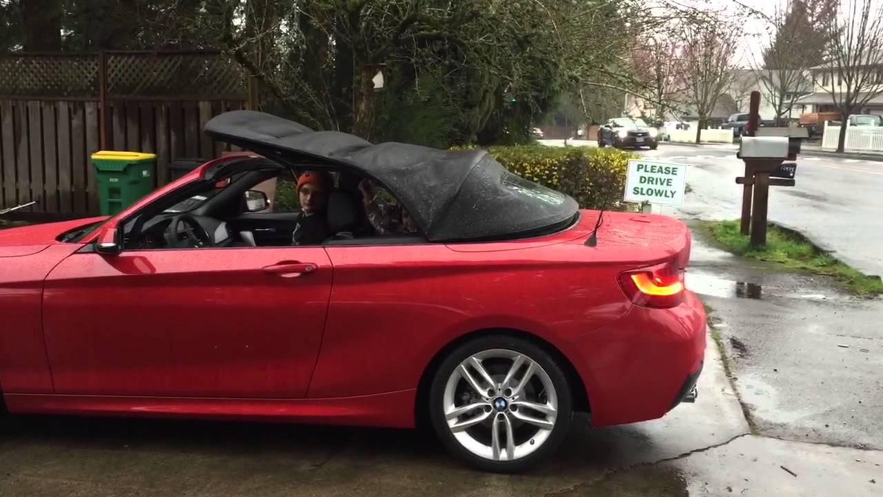 Bmw 228i Convertible >> New 2015 BMW 228i M Sport, Top Down in Rain - YouTube