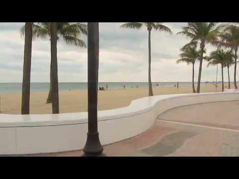 Fort Lauderdale Beach Florida USA along Las Olas Beach Boulevard