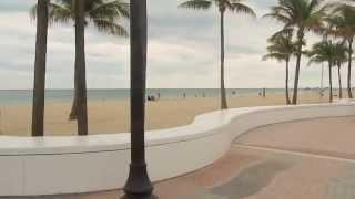 Fort Lauderdale Beach Florida USA along Las Olas Beach Boulevard