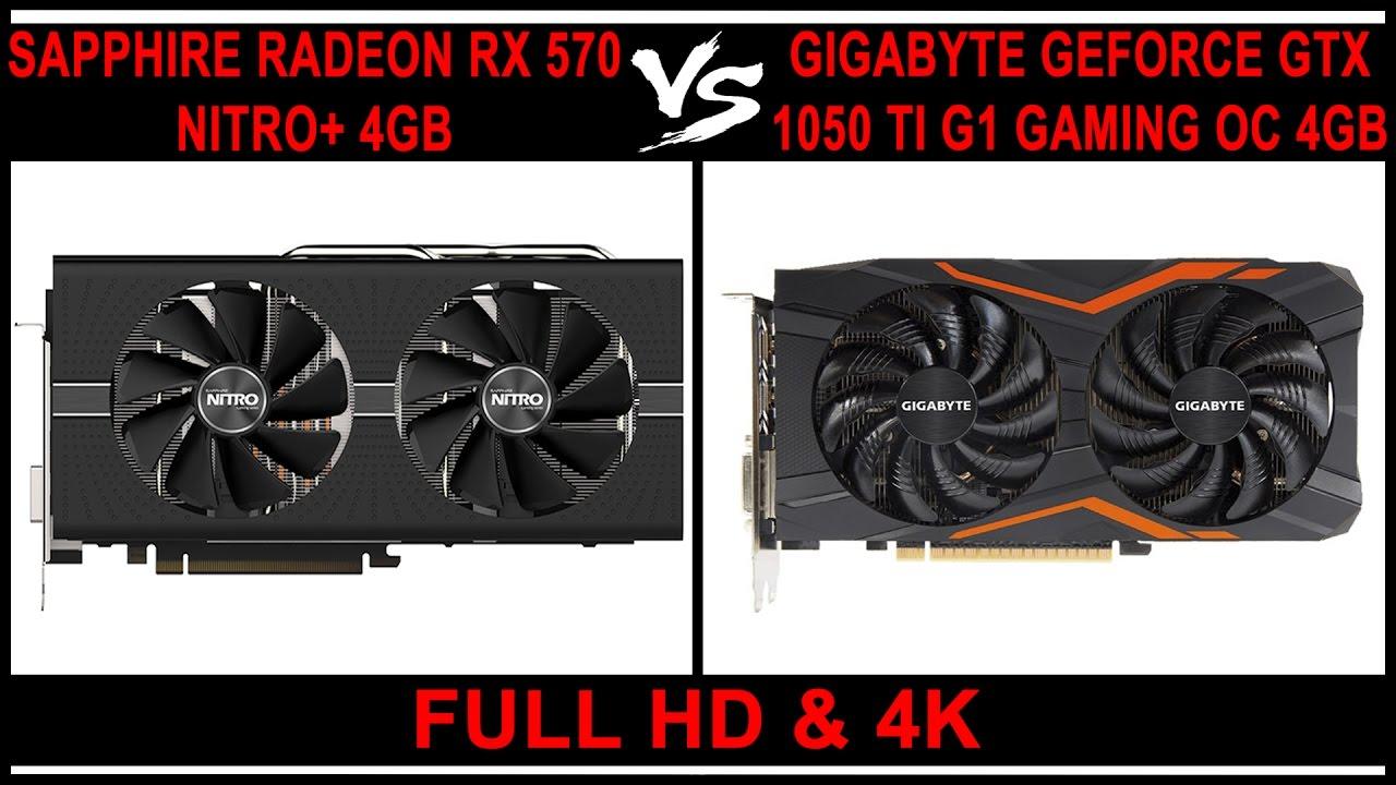 AMD RX 570 4GB Vs Nvidia GTX 1050 Ti 4GB - Full HD & 4K (Benchmarks)