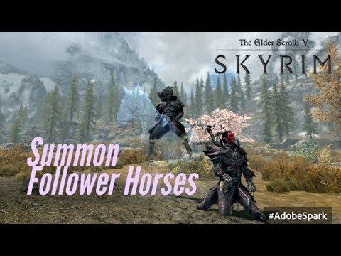 Skyrim PS4 Mods: Summon Followers Horse