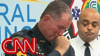 Officer brought to tears recounting school shooting