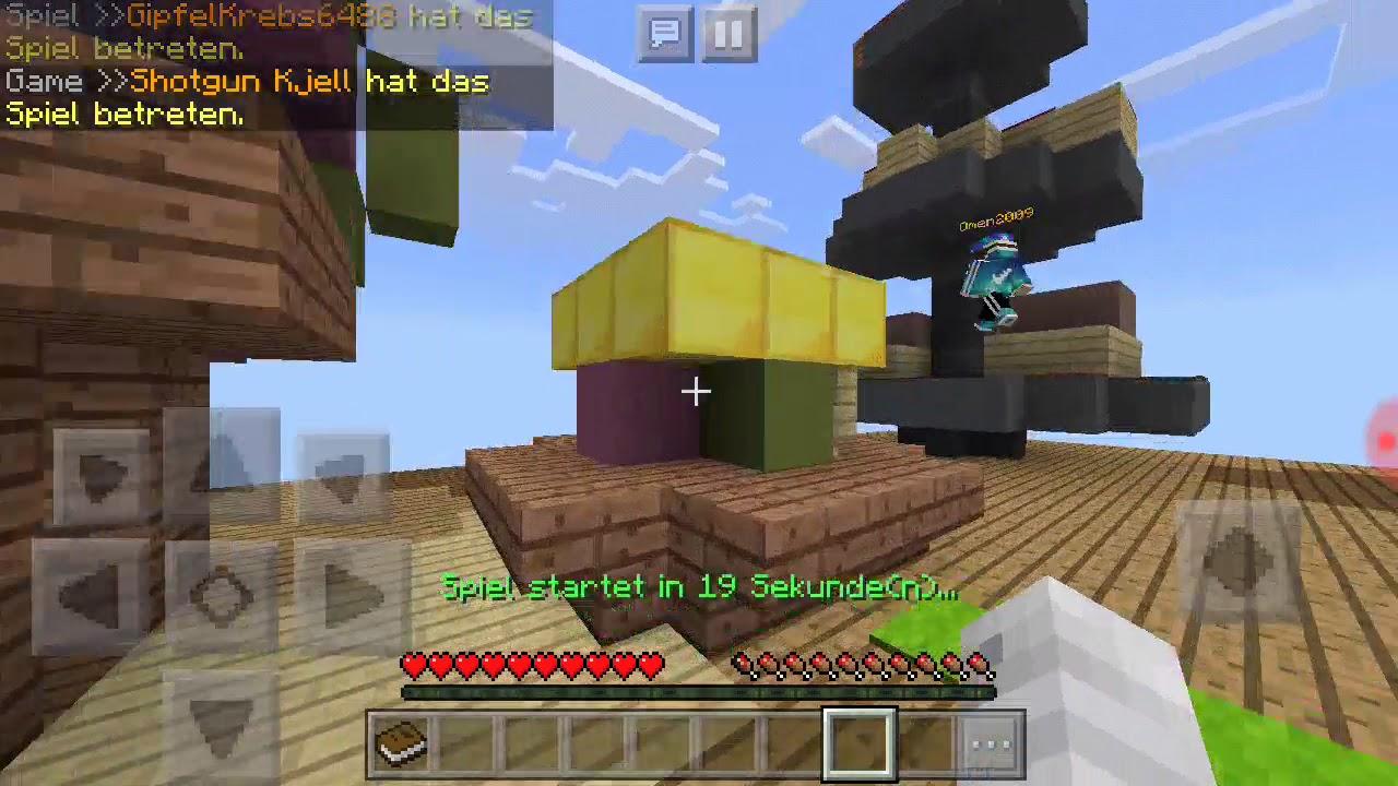 Wir Spielen Minecraft In Bedwars Und Zombie YouTube - Minecraft spiele mit zombies