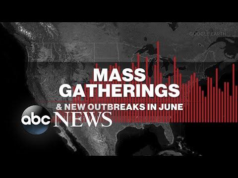 Mass gatherings in June reshaped fight with coronavirus l ABC News