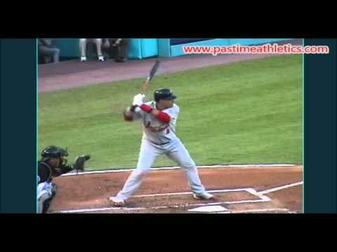 Yadier Molina Slow Motion Baseball Swing - Hitting Mechanics Instruction St. Louis Cardinals