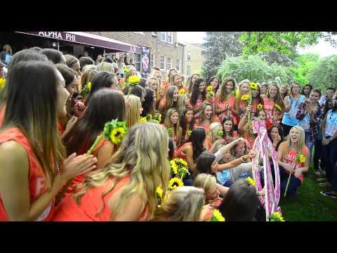 Alpha Phi Bid Day 2014 - University of Michigan