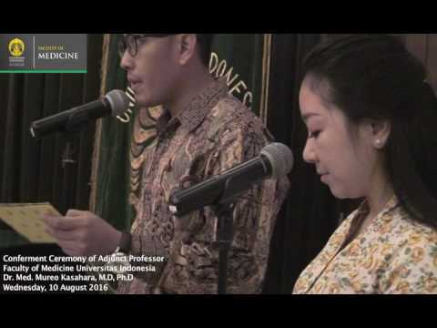Seremoni Adjunct Professor Dr. Med. Mureo Kasahara, MD, PhD