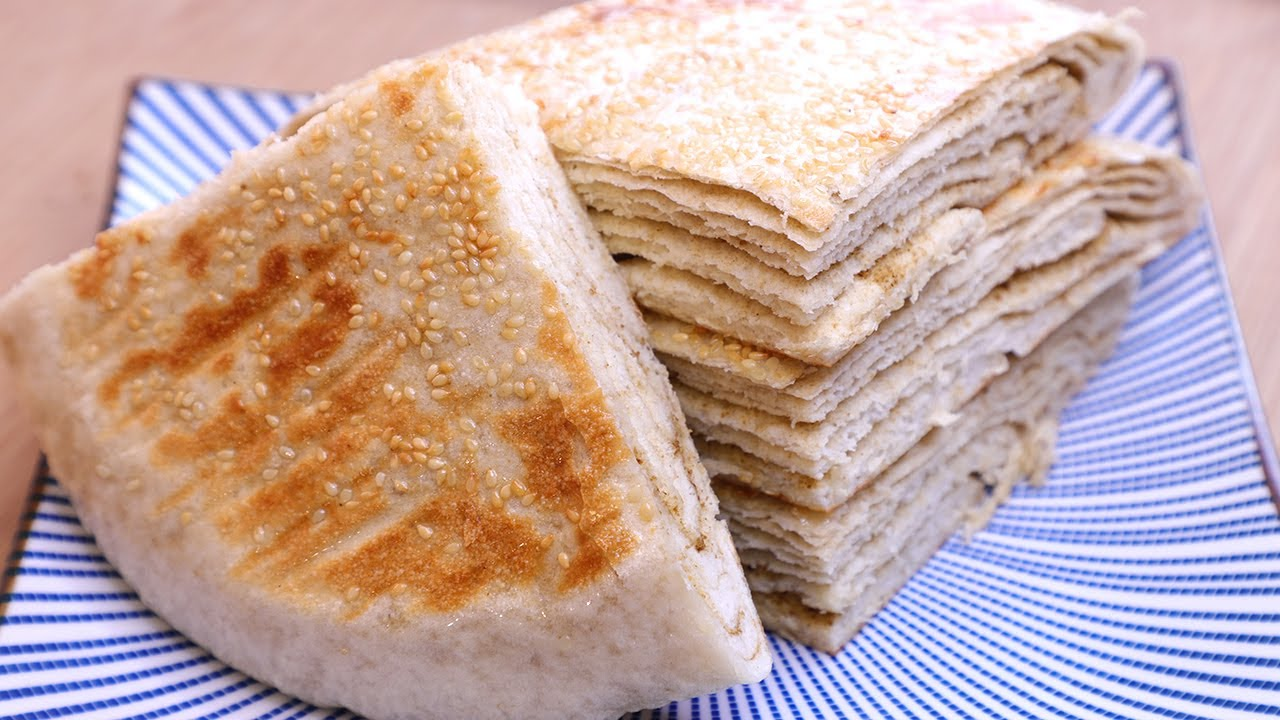 千层饼最简单的做法,轻松20层,外酥里软,层层分明薄如纸,香【丽娟美食记】