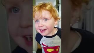 Ed Sheeran, 2 year old Lookalike, Completes his first potty training. Funny