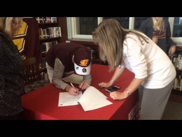 Watch Whitehall standout Reiley Brown sign to wrestle at CMU