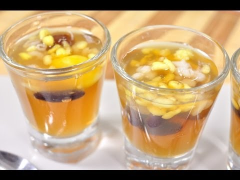[Thai Dessert] Assorted Beans in Longan Jelly (Woon Tao Tueng Nam Lum Yai)