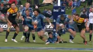 Ranger brilliant step : Super Rugby 2012 R.15 Blues vs Chiefs 2017 Video