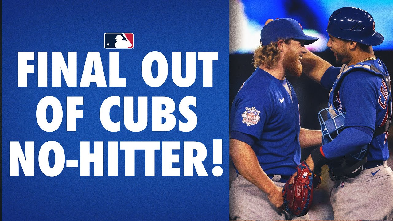 Craig Kimbrel shuts it down in the 9th to complete the Cubs' 17th no-hitter!