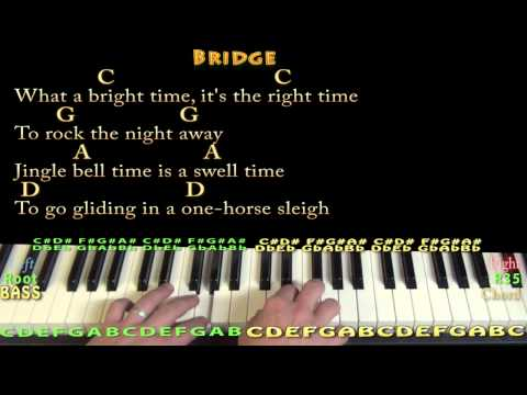 Jingle Bell Rock (CHRISTMAS) Piano Cover Lesson in G with Chords ...